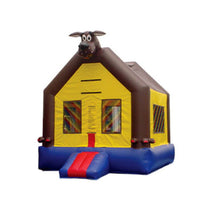 BROWN  PUPY DOG  BOUNCE HOUSE