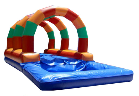 TRI  COLOR ARCHES , R / L WATER SLIP-N- SLIDE