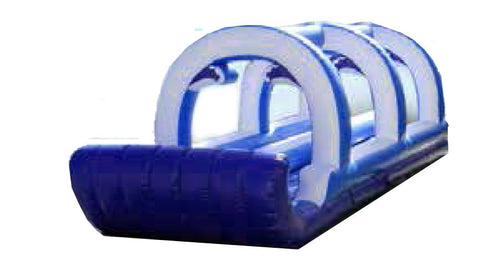 BLUE ARCH THEME DUAL LANE WATER SLIP & SLIDE # 2 .
