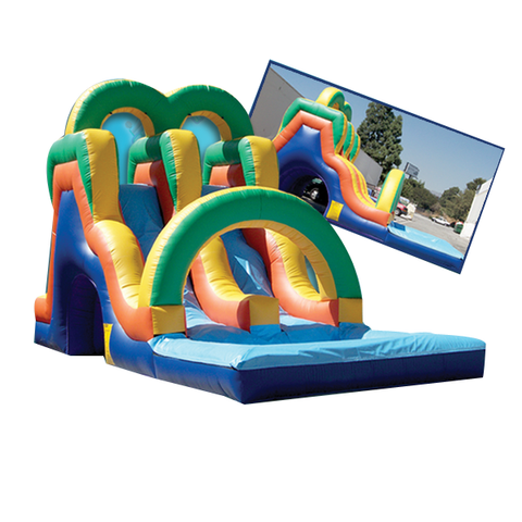 ARCH  REAR LOAD DUAL LANE WATER  SLIDE
