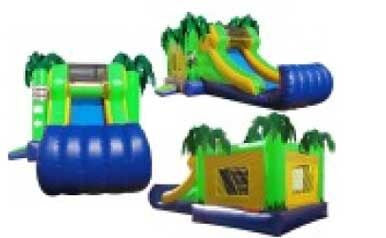 PALM THEME COMBO BOUNCE HOUSE