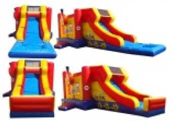 SIDE LOAD ----WET / DRY COMBO BOUNCE HOUSE .