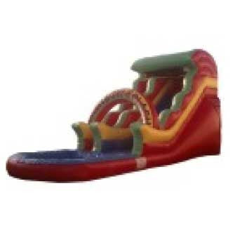 BASIC RED ARCH WATER SLIDE