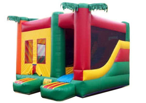 PALM TREE THEME  COMPACT COMBO BOUNCE HOUSE
