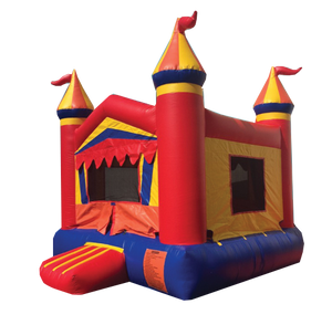 BROWN & BLUE CASTLE BOUNCE HOUSE