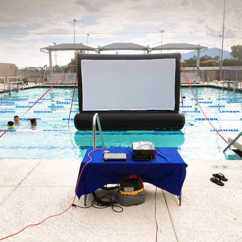 10ft SILENT INFLATABLE MOVIE SCREEN