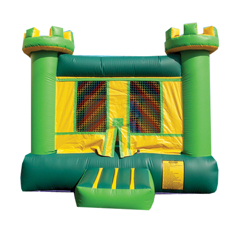 GREEN & YELLEOW CASTLE  BOUNCE HOUSE # 1