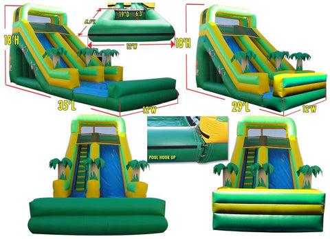 FRONT LOAD  BASIC JUNGLE WATER SLIDE