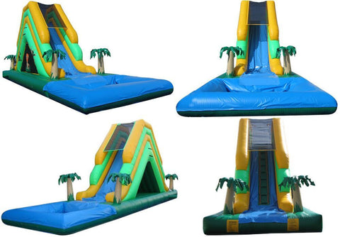 TROPICAL THEME  COMBO WATER SLIDE , WITH  SLIP-N-SLIDE