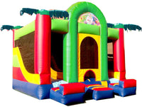 DOUBLE  PALM TREE  COMBO BOUNCE HOUSE