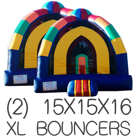 DUO (2) XL INFLATABLE PACKAGE DEAL #1 BOUNCE HOUSE