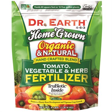 Dr. Earth® Home Grown® Organic Tomato, Vegetable & Herb Fertilizer 4-6-3