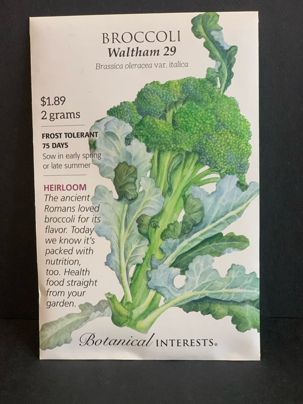 Botanical Interests: Waltham 29 Broccoli Seeds Heirloom