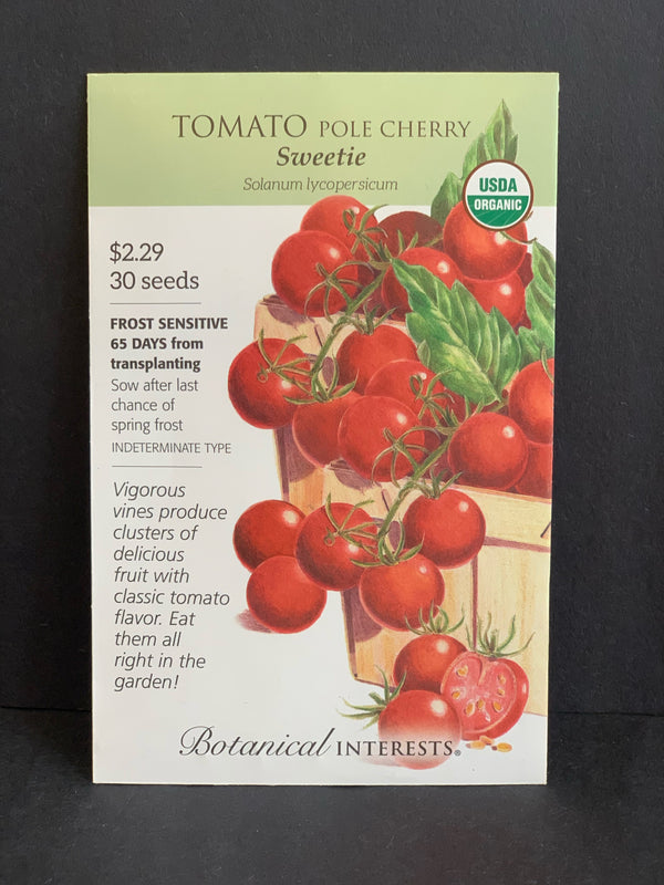 Botanical Interests: Sweetie Pole Cherry Tomato Seeds Organic