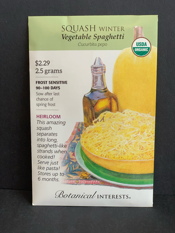Botanical Interests: Vegetable Spaghetti Winter Squash Seeds Organic, Heirloom