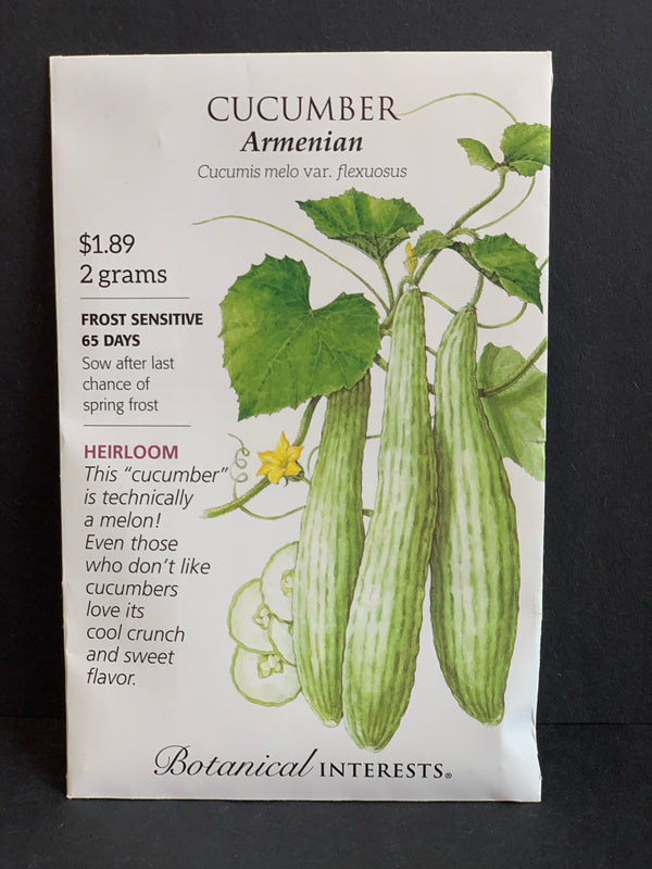 Botanical Interests: Armenian Cucumber Seeds Heirloom