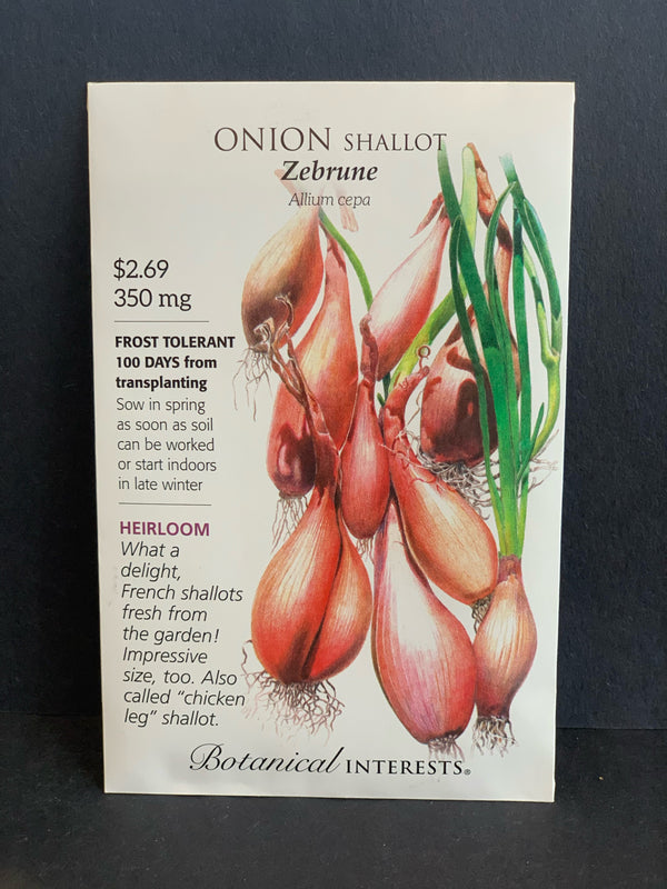 Botanical Interests: Zebrune Shallot Onion Seeds Heirloom