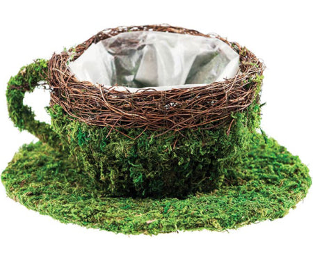SuperMoss® Deco Baskets - Coffee Cup Planter