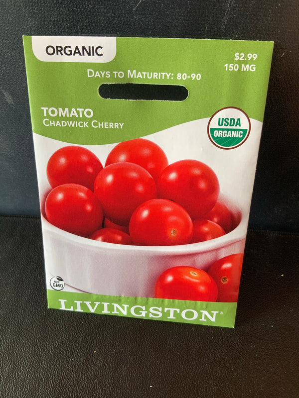 Livingston: Organic Vegetable Seed Tomato 'Chadwick Cherry'