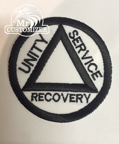 ALCOHOLICS ANONYMOUS EMBROIDERED PATCH sew on iron on AA SOBRIETY LOGO