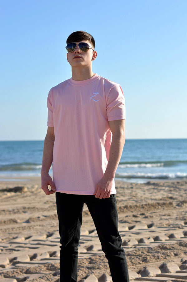 T-Shirt - Rose Pink / White