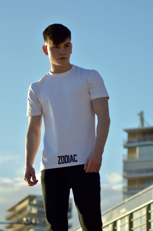 Core Bottom Print T-Shirt - White / Black