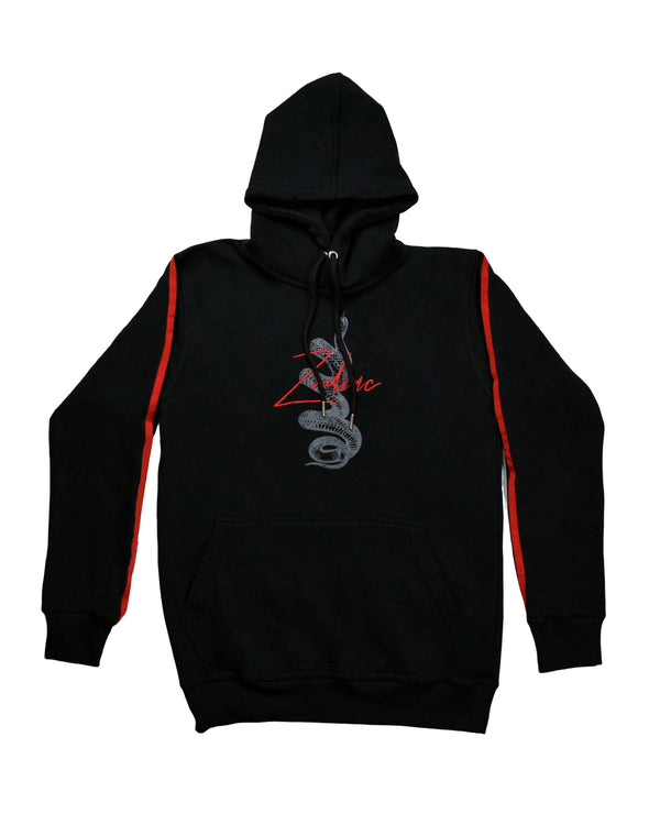 Signature Snake Print Hoodie - Black/Red