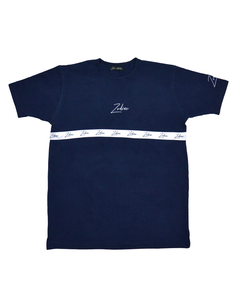 Tapered Body T-Shirt - Navy/White