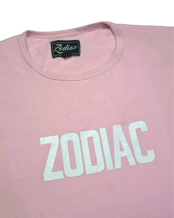 Core Print T-Shirt - Rose Pink / White