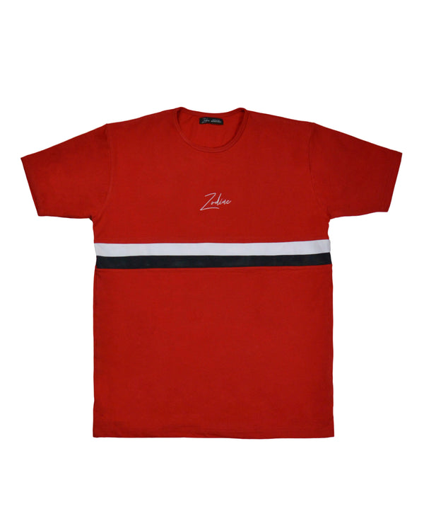 T-Shirt - Red/White/Black