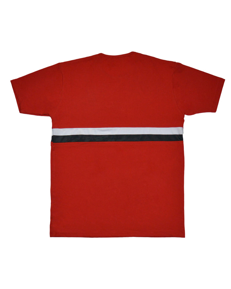 Double Striped T-Shirt - Red/White/Black