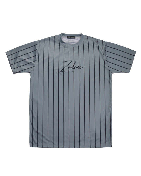 Pinstripe T-Shirt - Grey/Black