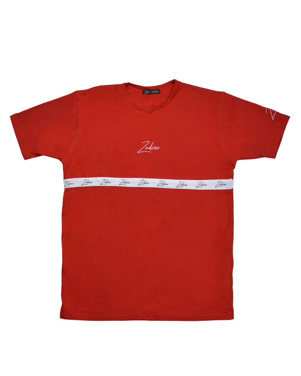 Tapered Body T-Shirt - Red/White
