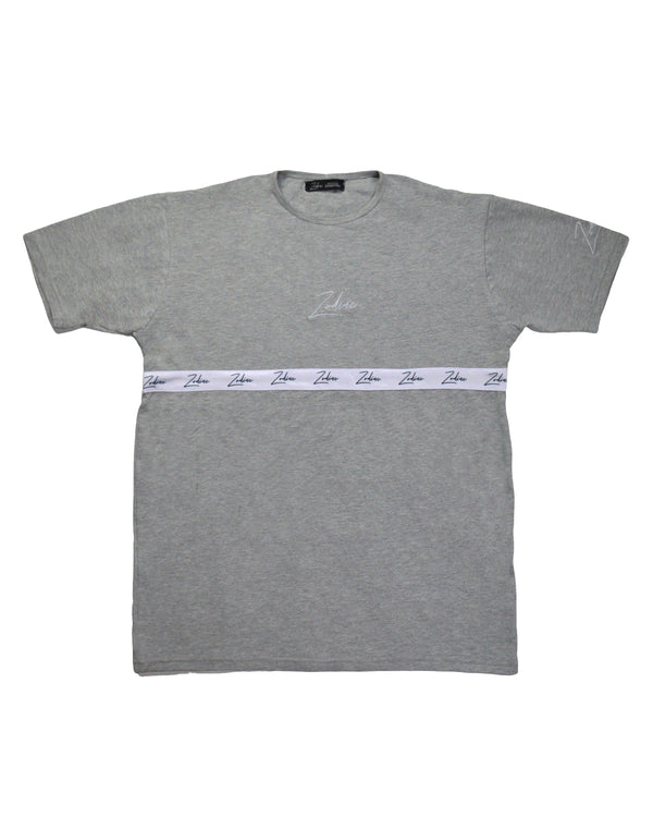 Tapered Body T-Shirt - Grey/White