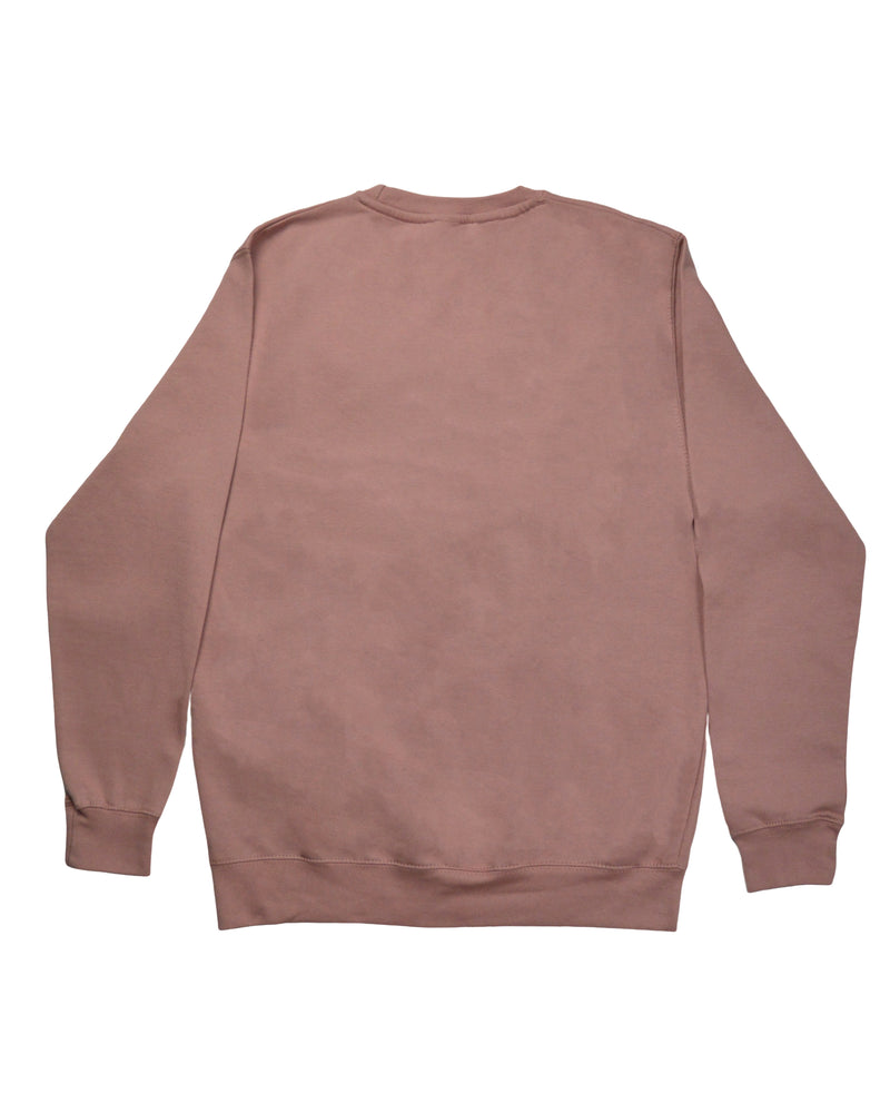 Signature Paint Stripe Logo Sweatshirt - Dusty Pink/White
