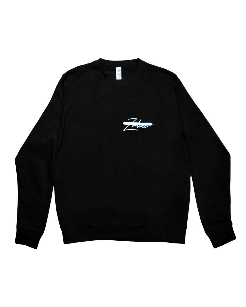 Signature Paint Stripe Logo Sweatshirt - Black/White