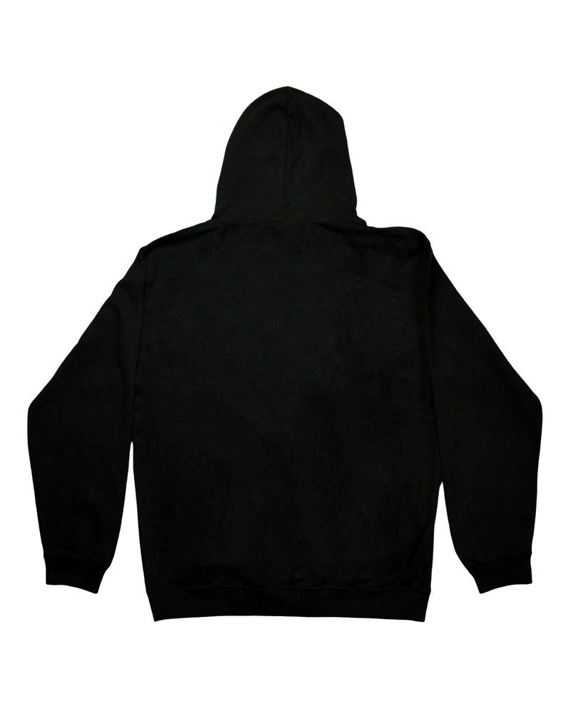 Signature Paint Stripe Logo Hoodie - Black/White