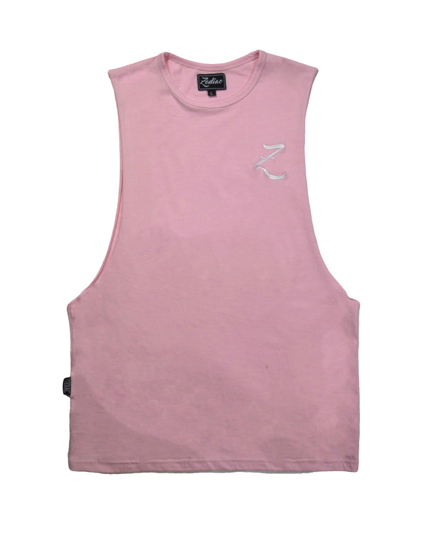 Original Core Vest - Rose Pink / White