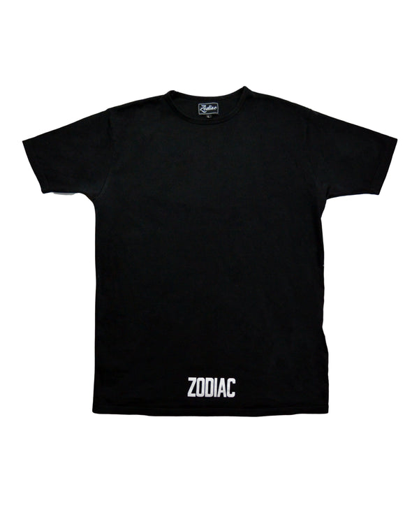 Core Bottom Print T-Shirt - Black / White
