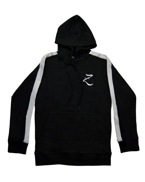 Tapered Hoodie - Black/White