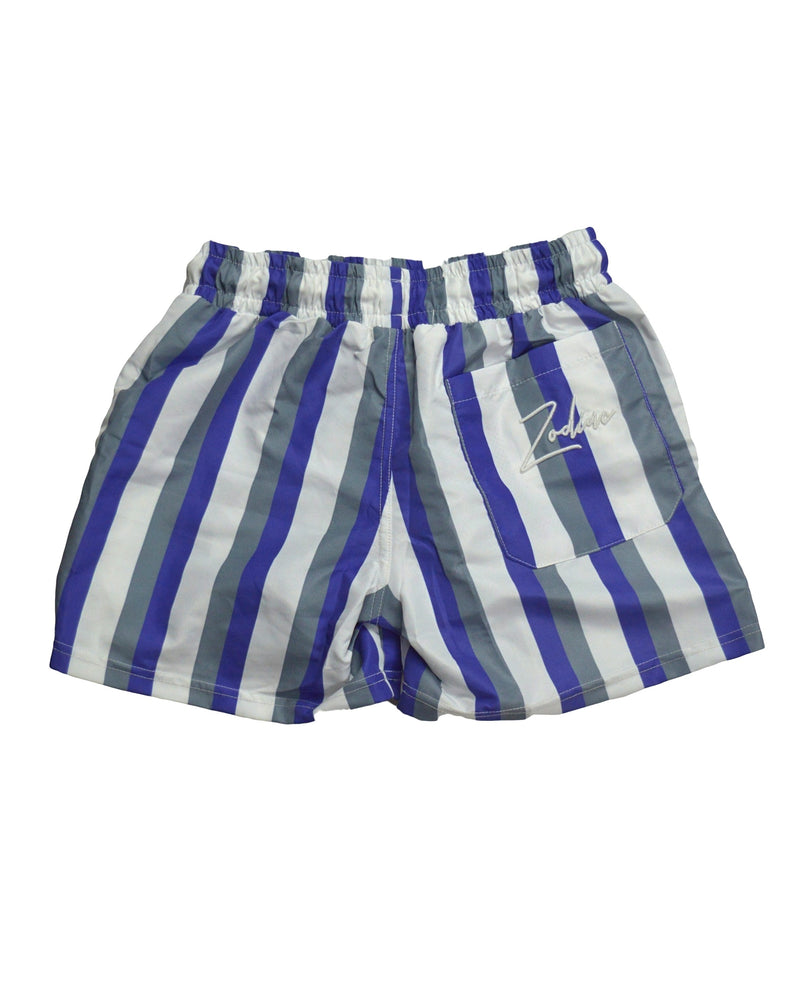 Swim Shorts - Blue/White/Grey