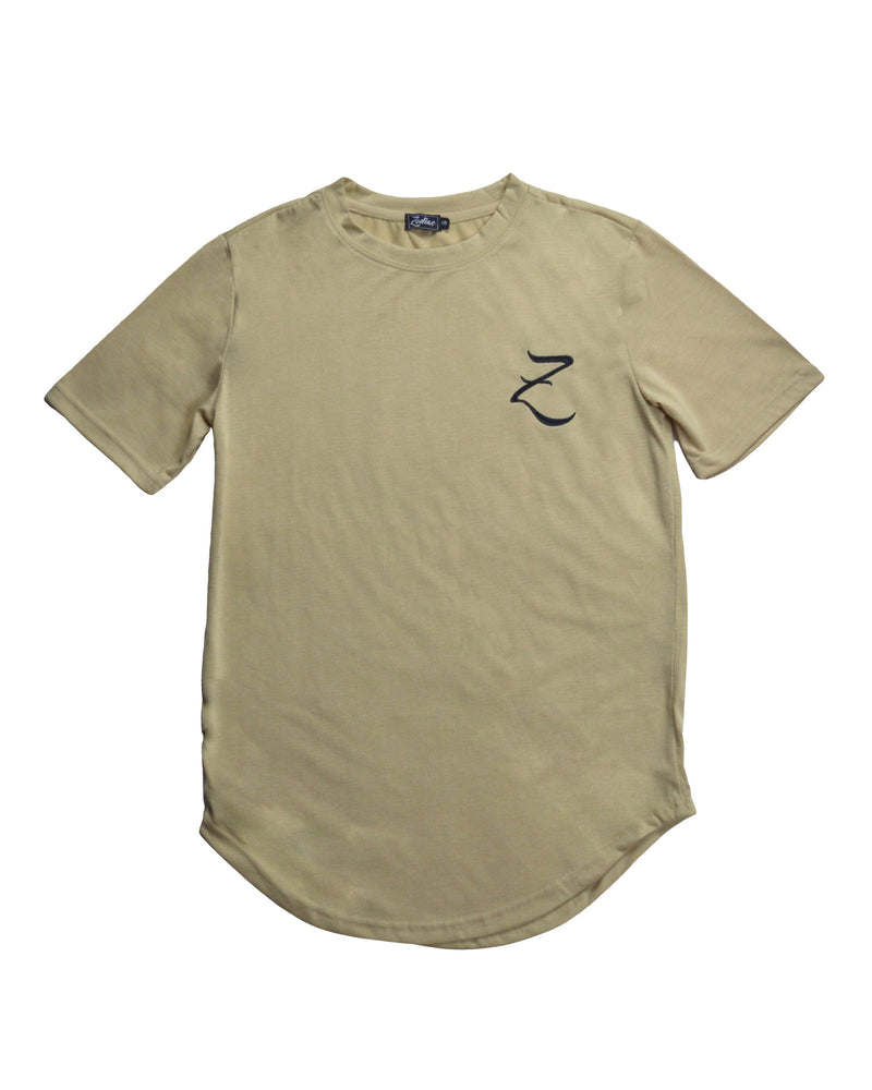 Original Core T-Shirt with Curved Hem - Sand / Black