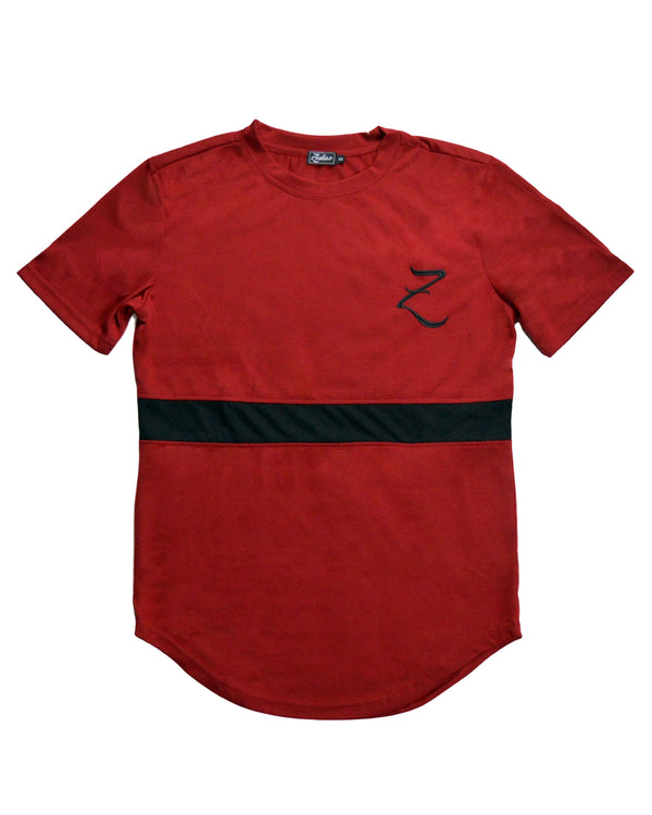 Triple Panel T-Shirt - Red / Black