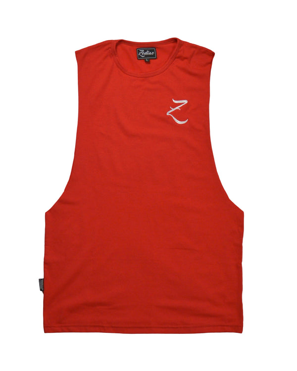 Original Core Vest - Fire Red / White