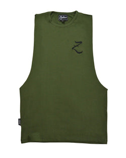 Original Core Vest - Khaki Green / Black