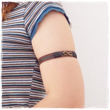 Infinity Upper Arm Leather Bracelet