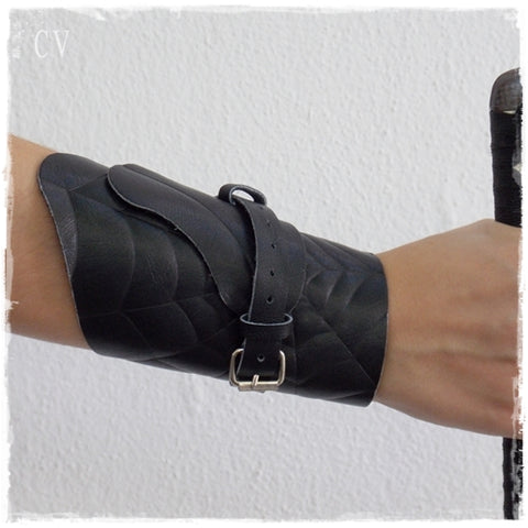 Spider-Web Leather Arm-Wrap