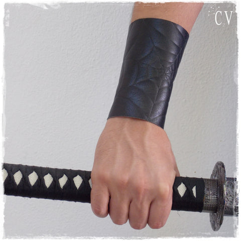 Spider-Web Leather Bracer