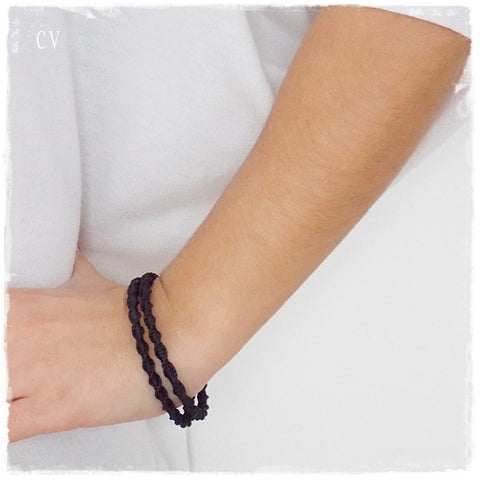 MacrameSquare Knot Bangle Bracelets