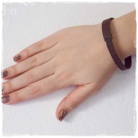 Minimal Bangle Leather Bracelet